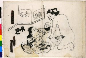 Shunga, 1704-11, print artist Torii Kiyonobu I (鳥居清信 I), British Museum