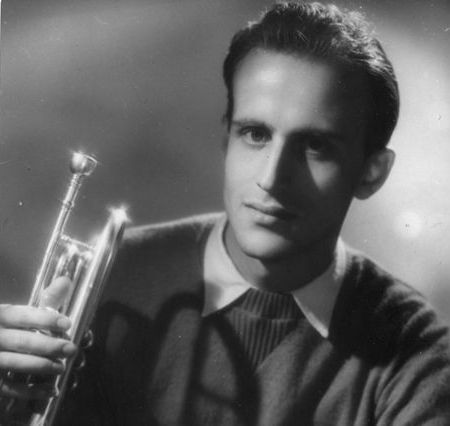 Boris Vian, with trumpet
