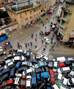 Italy traffic jam