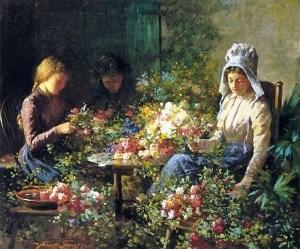 Abbott Fuller Graves (American artist, 1859 – 1936) Flower Sellers