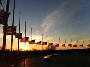 American-flags-at-half-staff