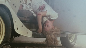 Faye Dunaway in Bonnie and Clyde, directed by Arthur Penn, end, death