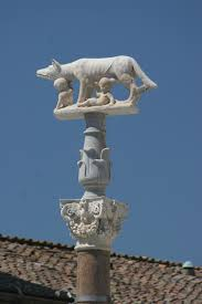 Romulus and Remus, Capitoline Wolf at Siena Duomo. Italy