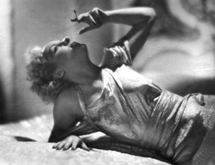 Smoking in Bed - Carole Lombard