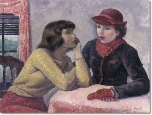 Leon Kroll (1884–1974) Study for Conversation, 1940