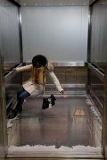 bottomless elevator, 3D illusion, London