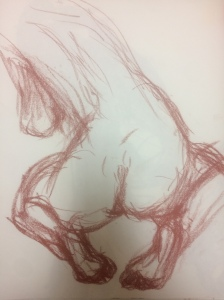 woman-from-behind-red-conte-crayon-dark-below-drawing-by-william-eaton