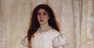 Detail from James Abbott McNeill Whistler, Symphony in White, number 1 - The White Girl (1862), National Gallery of Art, Washington, DC