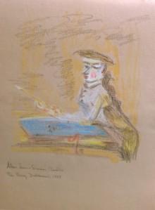 """Après """"Le jeune dessinateur"""" (The Young Draftsman), Jean-Baptiste-Siméon Chardin, 1737"""
