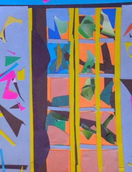 Collage of window at Tarallucci e Vino, First Ave & 10th Street, by William Eaton, November 2017