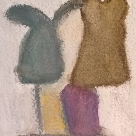 After a Morandi still life, watercolor by William Eaton, 2018 - 2