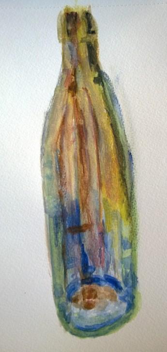 Empty bottle, watercolor by William Eaton, 20 Oct 2017