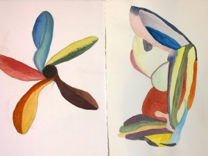 A pair for Ayako, gouaches by William Eaton, Aug 2018