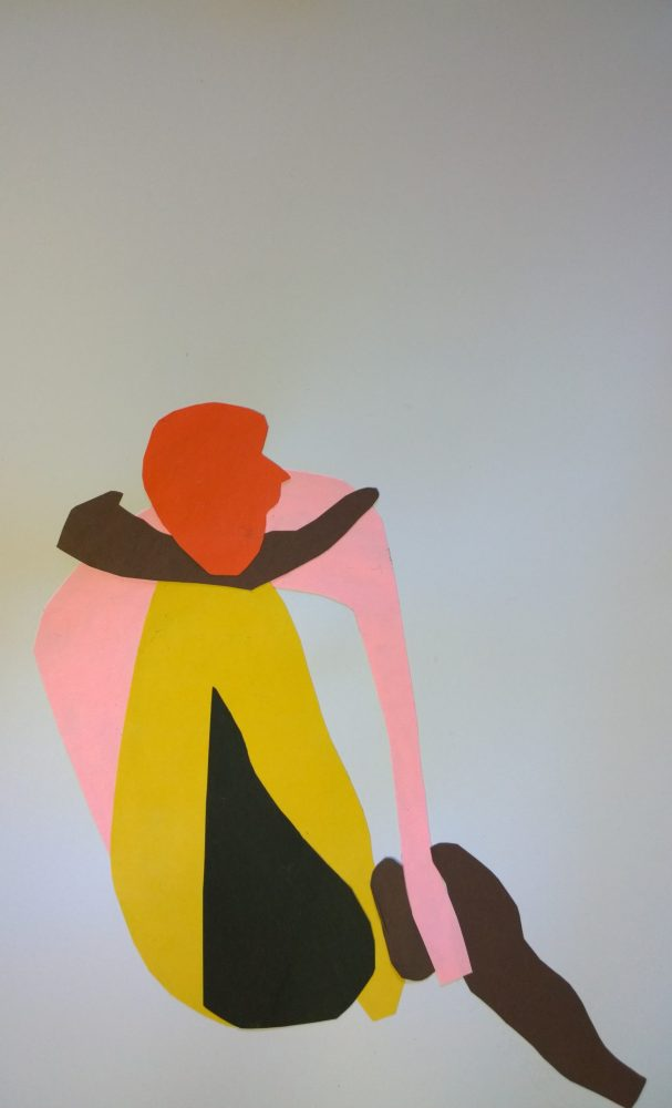 Cut-out with orange head, Feb 2017, by William Eaton