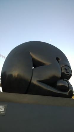 Jiménez Deredia, sculpture in San José, Feb 19 - 1