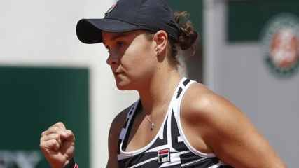 Ash Barty, image from AAP (Fox Sports) online story, 6 June 2019
