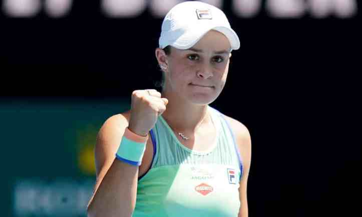 Ash Barty, January 2020, Australian Open (photo by Dave HuntAAP)
