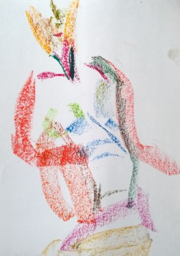 Erica, oil pastels (thinner), 24 March 2019, drawing by William Eaton - 1