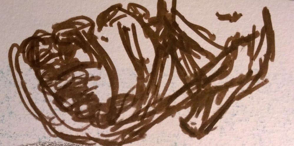 Sandal, Lispector celebration 10 Dec 2017, drawing by William Eaton - 1