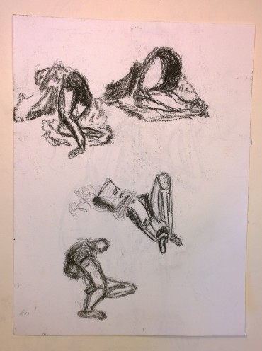 Napping on Stuyvesant Oval, New York, sketches by William Eaton