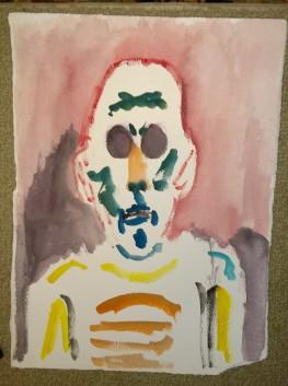Zombie eyes, self-portrait, William Eaton, 2019