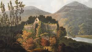 from Four Views of Tintern Abbey by Frederick Calbert (1815)