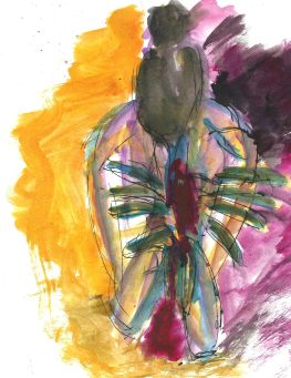 The Lotus Mudra, watercolor by William Eaton, May 2020